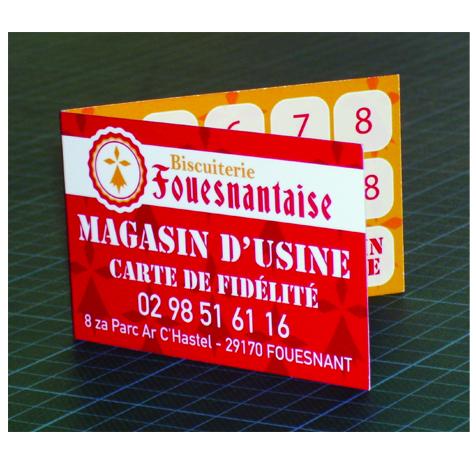 Carte De Fidelite 2 Volets